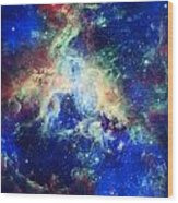 Tarantula Nebula 4 Wood Print by Jennifer Rondinelli Reilly - Fine Art Photography