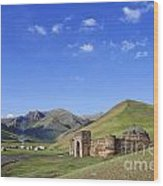 Tash Rabat Caravanserai In The Tash Rabat Valley Of Kyrgyzstan  Wood Print by Robert Preston