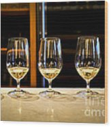 Tasting Wine Wood Print by Elena Elisseeva