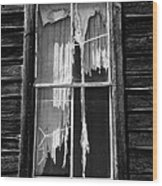 Tattered And Torn Wood Print by Cat Connor