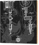 Tattoo Gun Patent Wood Print by Dan Sproul
