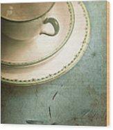 Tea Time Wood Print by Jan Bickerton