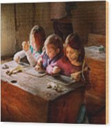 Teacher - Classroom - Education Can Be Fun  Wood Print by Mike Savad