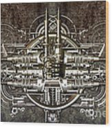 Technically Electronic Background Wood Print by Diuno Ashlee
