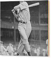Ted Williams Swing Wood Print by Gianfranco Weiss