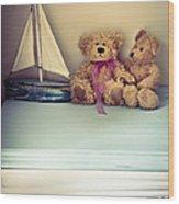 Teddy Bears Wood Print by Jan Bickerton