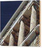 Temple Of Athena Nike Columns Wood Print by John Rizzuto