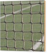 Tennis Net Wood Print by Luis Alvarenga