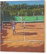 Tennis Practice Wood Print by Andrew Macara