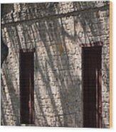 Texas Pioneer Church Doors Wood Print by Connie Fox