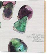 Thank You - Gratitude Rocks By Sharon Cummings Wood Print by Sharon Cummings