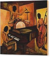 The 1st Jazz Trio Wood Print by Larry Martin