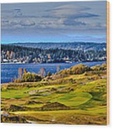 The Amazing Chambers Bay Golf Course - Site Of The 2015 U.s. Open Golf Tournament Wood Print by David Patterson