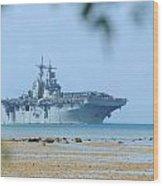 The Amphibious Assault Ship Uss Boxer  Wood Print by Paul Fearn