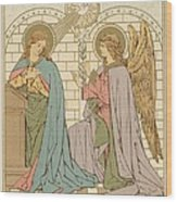 The Annunciation Of The Blessed Virgin Mary Wood Print by English School