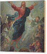 The Ascension Wood Print by Jean Francois de Troy