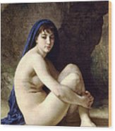 The Bather Wood Print by William Bouguereau