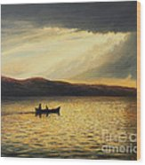 The Bay Of Silence Wood Print by Kiril Stanchev