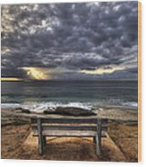 The Bench Wood Print by Peter Tellone