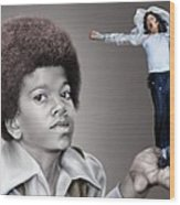 The Best Of Me - Handle With Care - Michael Jacksons Wood Print by Reggie Duffie