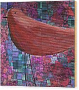The Bird - 23a01a Wood Print by Variance Collections