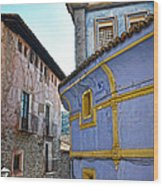 The Blue House Wood Print by RicardMN Photography