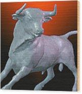 The Bull... Wood Print by Tim Fillingim