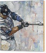 The Captain Derek Jeter Wood Print by Michael  Pattison