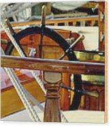 The Captain's Wheel Wood Print by Karen Wiles