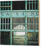 The Casino Wood Print by Colleen Kammerer