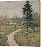 The Chateau At Busagny Wood Print by Camille Pissarro