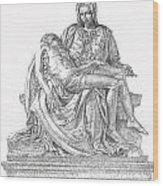 The Christ Wood Print by Richard Johns