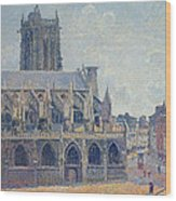 The Church Of St Jacques In Dieppe Wood Print by Camille Pissarro