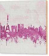 The City Of Love Wood Print by Aged Pixel