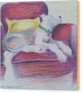 The Comfy Chair Wood Print by Ginny Schmidt