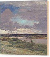 The Coming Storm Wood Print by Charles Francois Daubigny