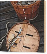 The Cranky Crab Wood Print by Skip Willits