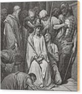 The Crown Of Thorns Wood Print by Gustave Dore