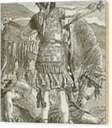 The Crucifixion Wood Print by English School