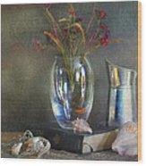 The Crystal Vase Wood Print by Diana Angstadt