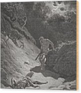 The Death Of Abel Wood Print by Gustave Dore