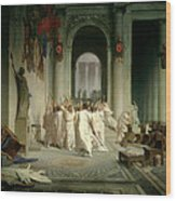 The Death Of Caesar Wood Print by Jean Leon Gerome
