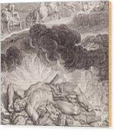 The Death Of Hercules Wood Print by Bernard Picart