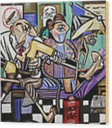The Dentist Is In Root Canal Wood Print by Anthony Falbo