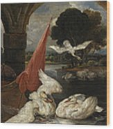 The Descent Of The Swan, Illustration Wood Print by James Ward