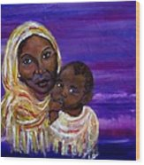 The Devotion Of A Mother's Love Wood Print by The Art With A Heart By Charlotte Phillips