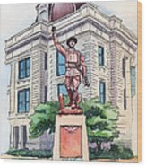 The Doughboy Statue Wood Print by Katherine Miller
