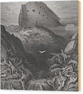 The Dove Sent Forth From The Ark Wood Print by Gustave Dore