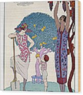 The Earth Wood Print by Georges Barbier