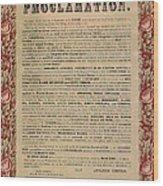 The Emancipation Proclamation Wood Print by American School
